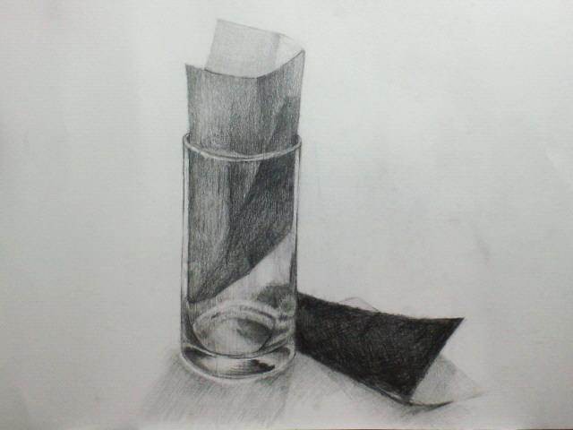 グラスと折り紙