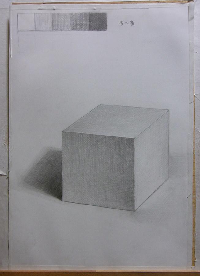 石膏幾何形の立方体