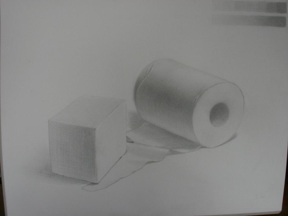 トイレットペーパーと直方体