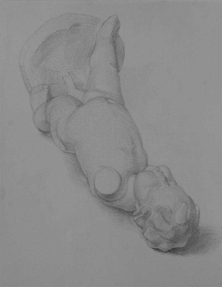 Re: 横たわる幼児像