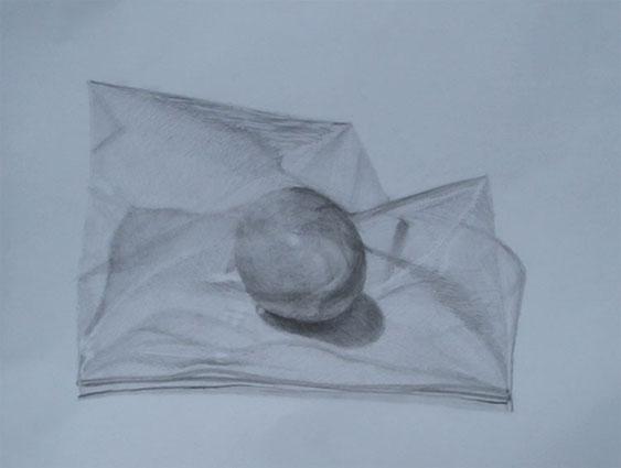 ナイロン袋に入った茶色の卵1