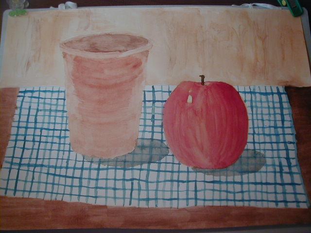 りんごと植木鉢
