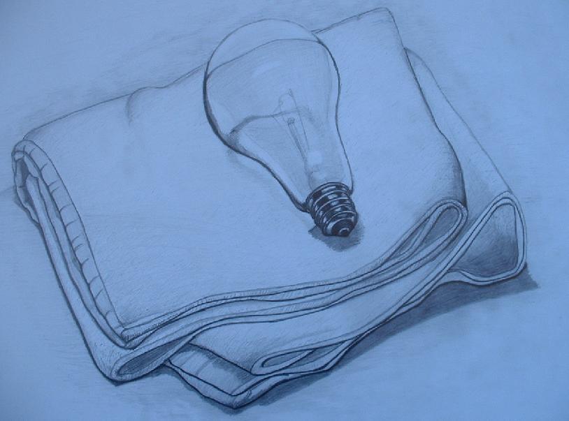 タオルと電球