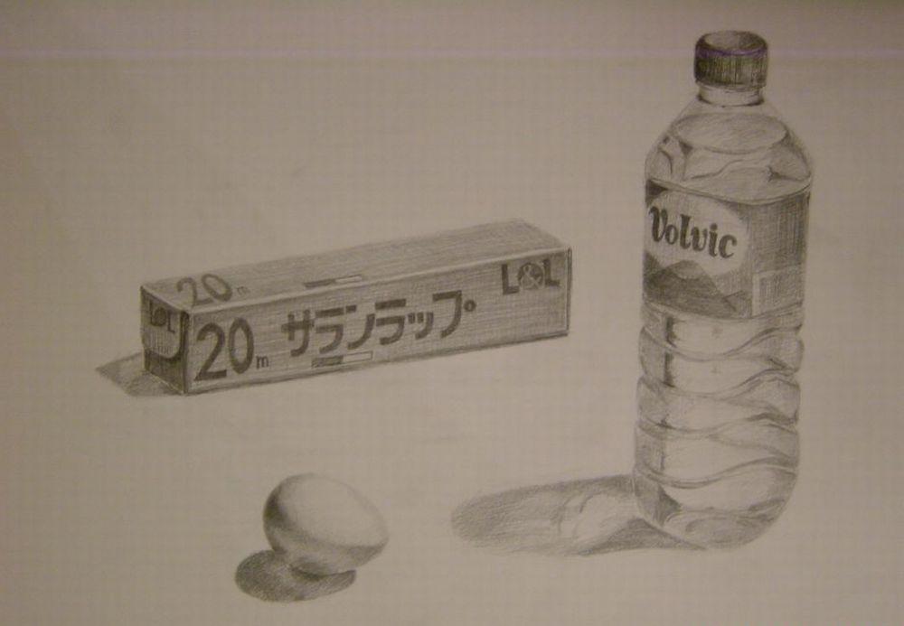 ペットボトル、箱、卵