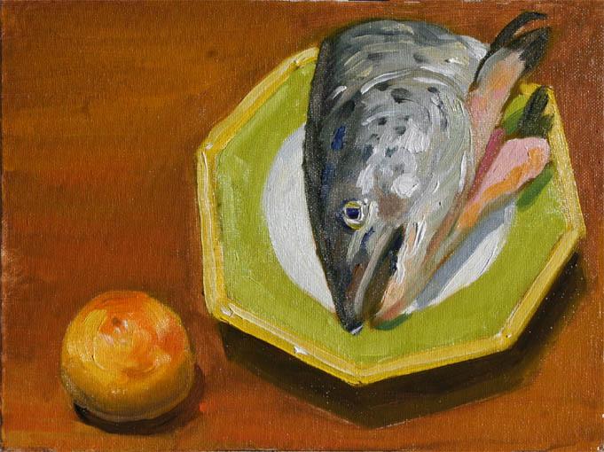 グレープフルーツと鮭の頭
