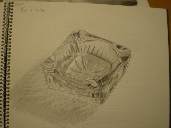 改めて灰皿を描いてみました