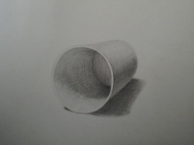 倒した紙コップ
