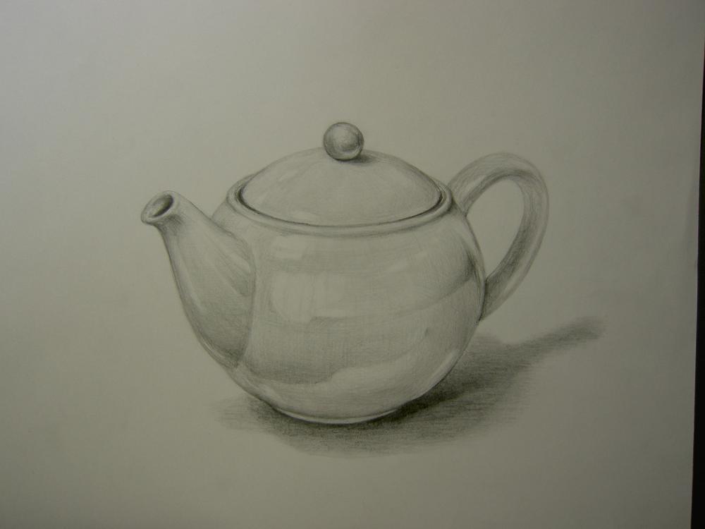 陶器のティーポット