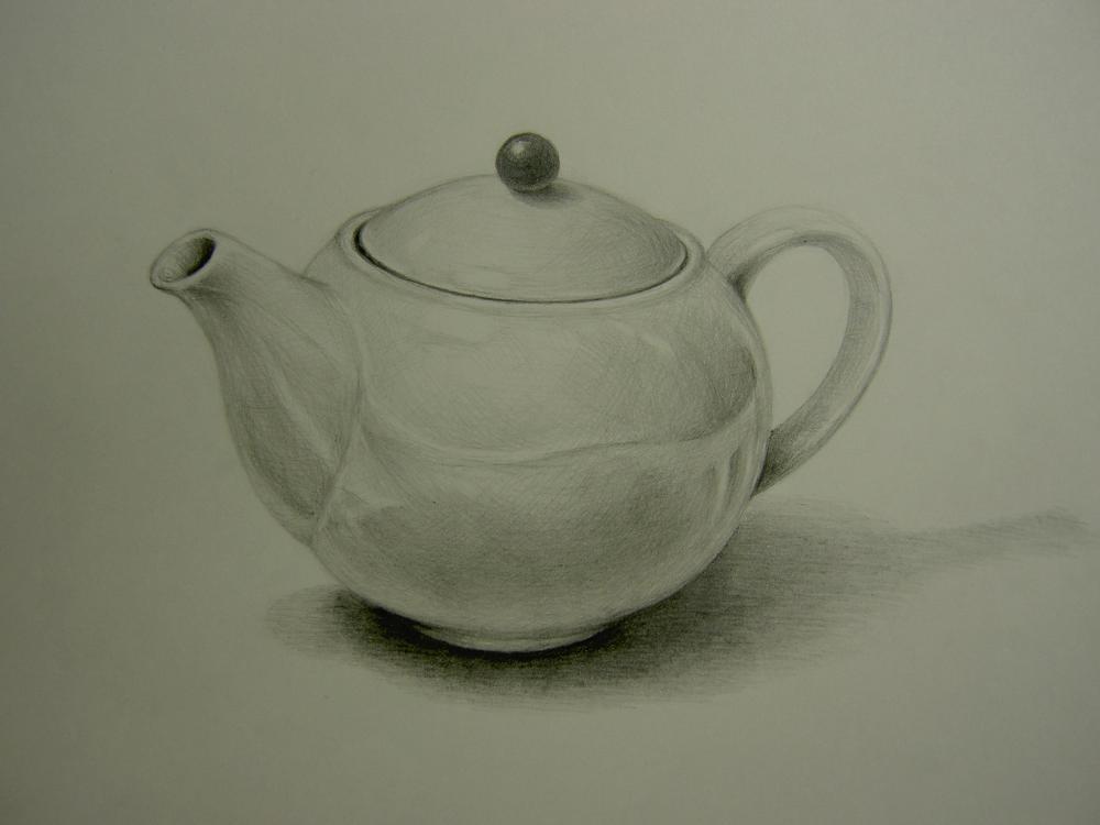 陶器のティーポット2