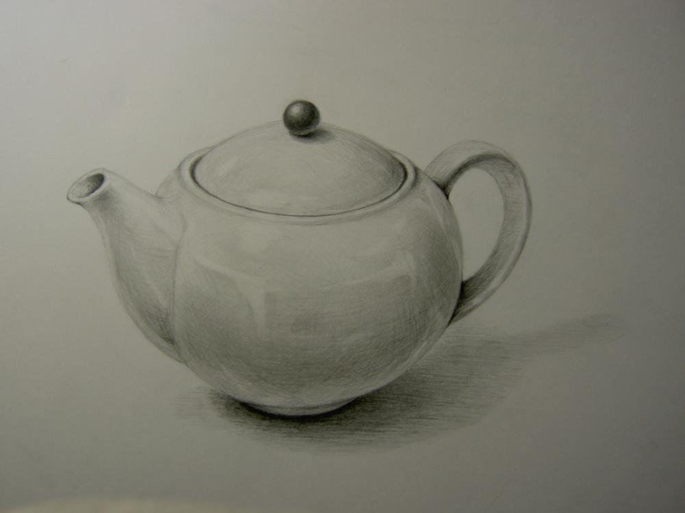 陶器のティーポット3