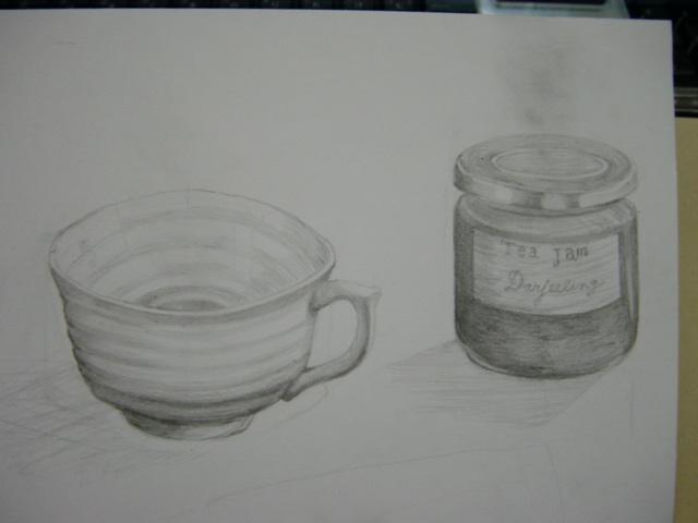ジャムとコーヒーカップ