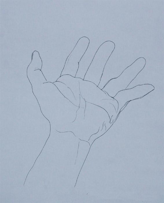 ペン画;手