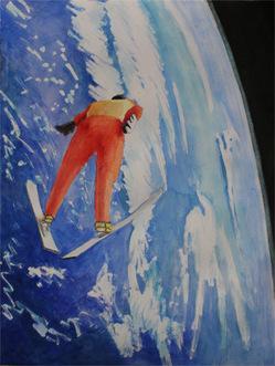 宇宙でジャンプ
