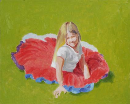 日溜まりに座る少女(着色1回目)