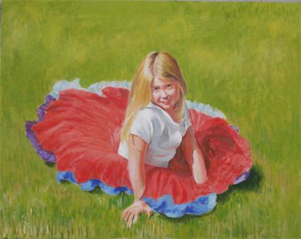 日溜まりに座る少女