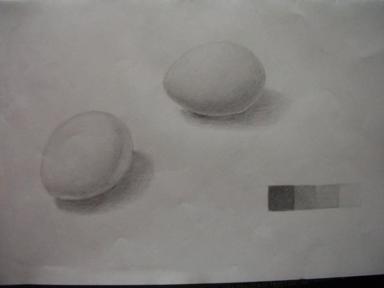生卵(9)とゆで卵