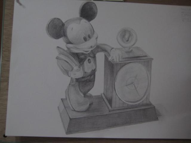 ミッキーの置き時計
