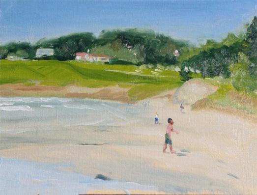 サンタクルツ:浜辺に面するゴルフコース