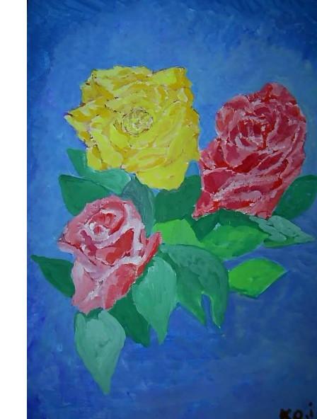 アクリル「薔薇」