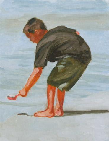 浜辺の少年