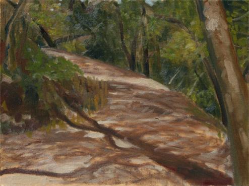 トレイルへの坂道