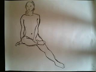 裸婦クロッキー 10分