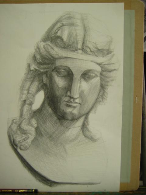 アリアス?の石膏像2