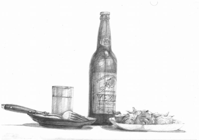 サザエのある食卓の風景