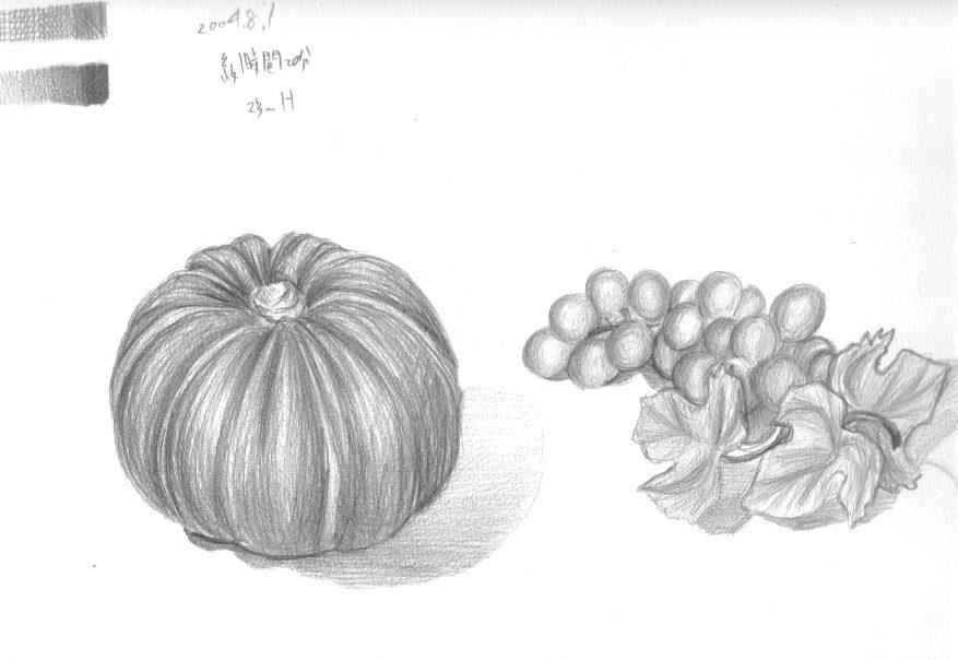 南瓜と葡萄のレプリカ