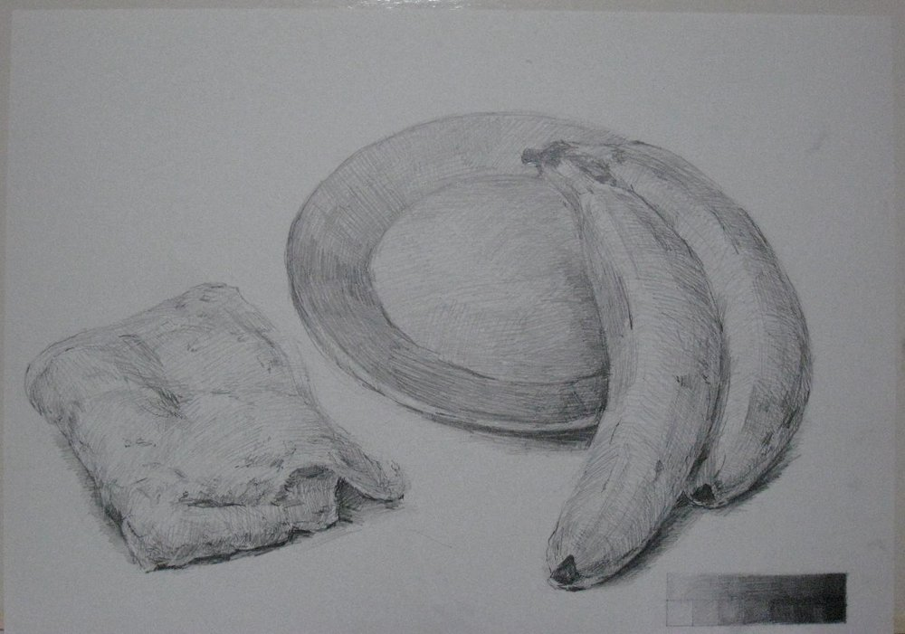 バナナ、皿、雜巾