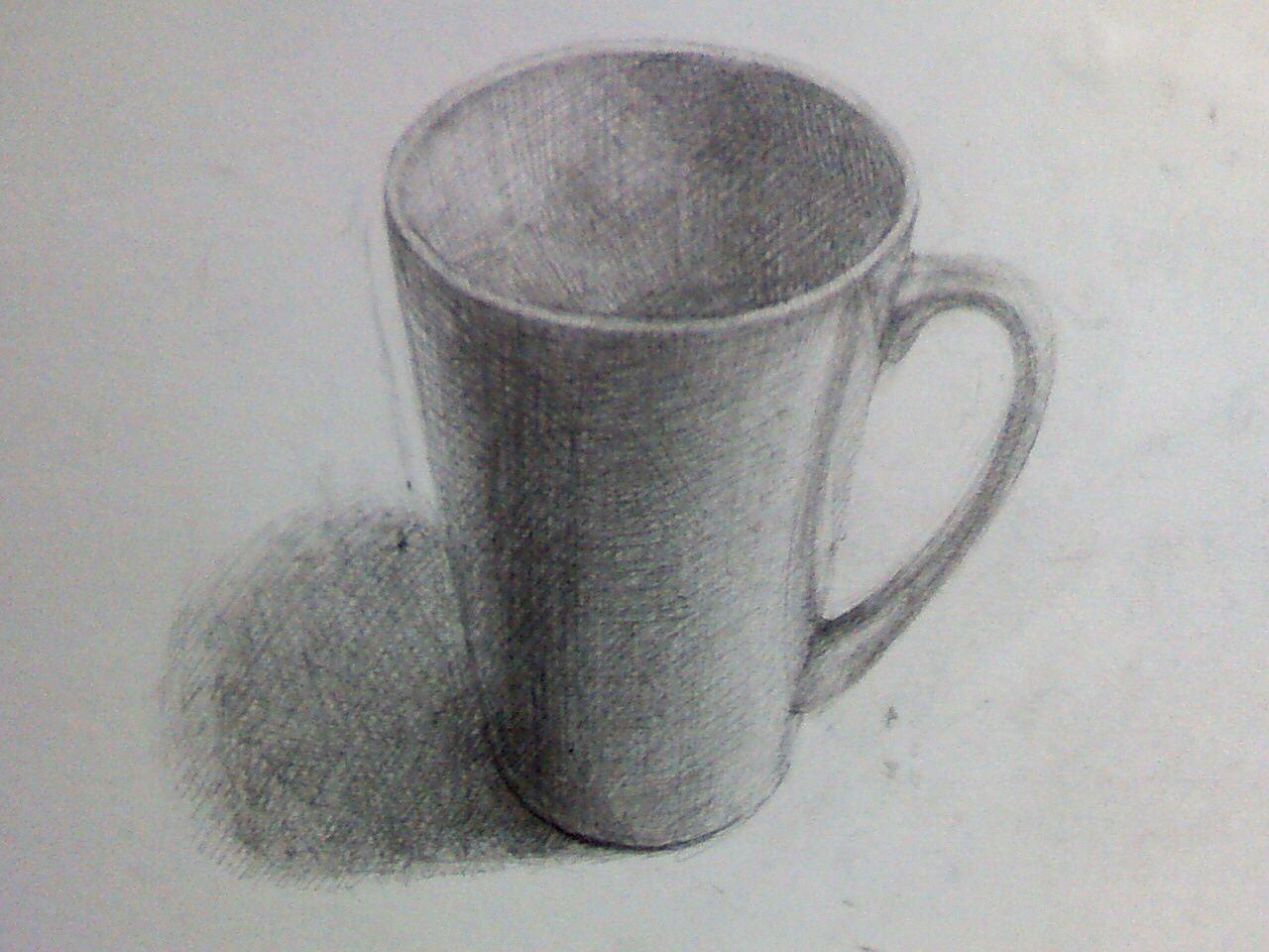 白いカップ