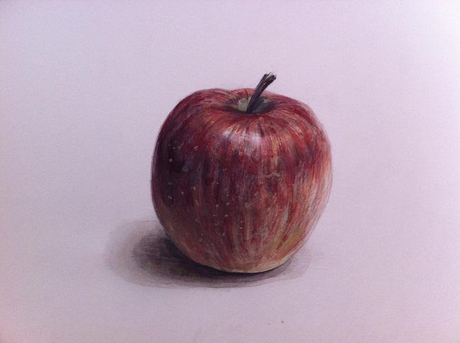リンゴの着彩