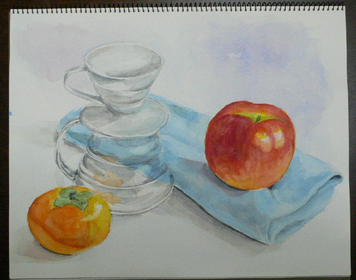 果物とコーヒードリッパー