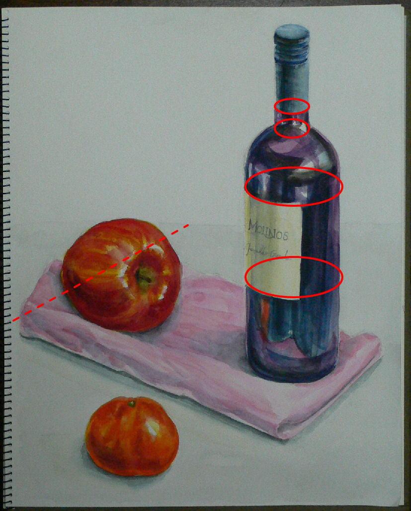 Re: ワインボトルと果物