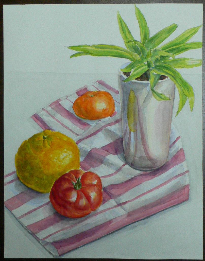 植物とみかんとトマト