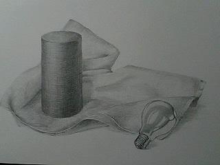 タオル+電球+円柱