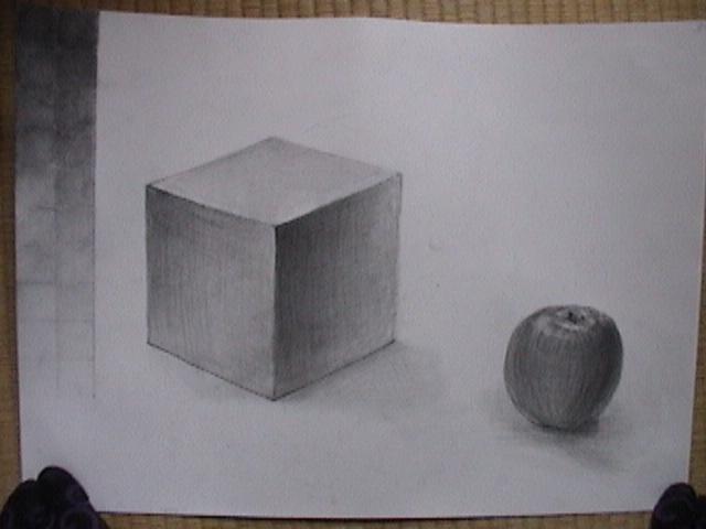 りんごと立方体とグラデーション