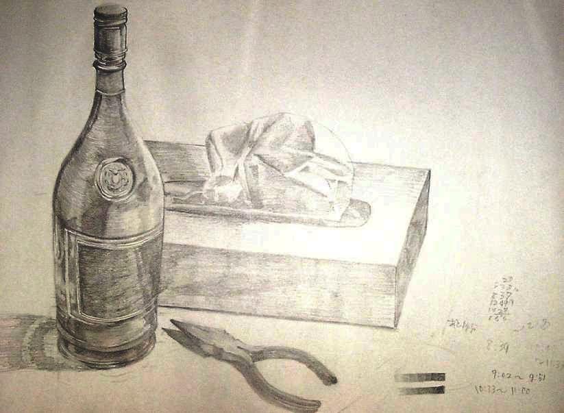ティッシュ箱とビンとペンチ