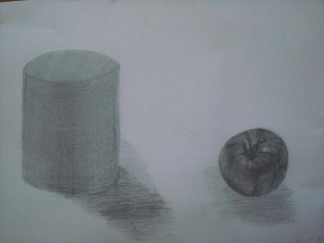 円柱とトマト
