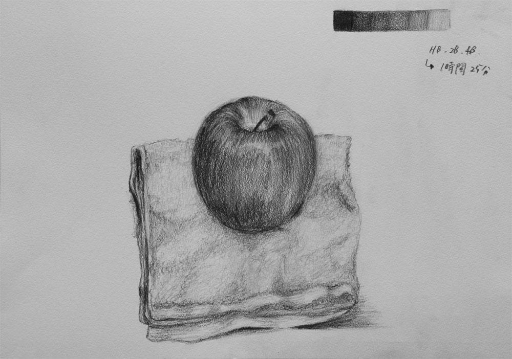 リンゴとタオル