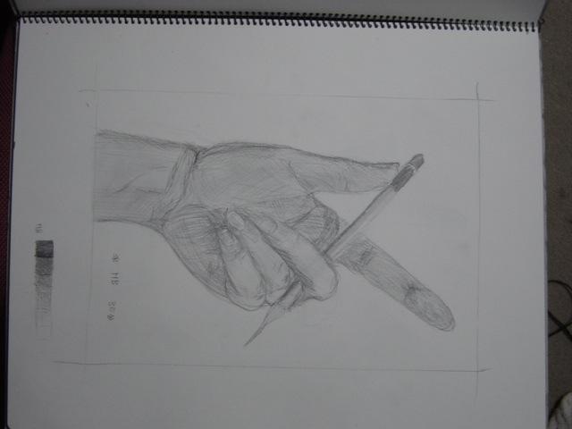 30分で手と鉛筆