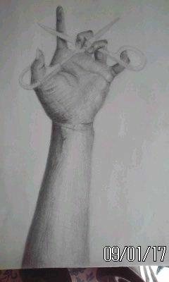 手とハサミ