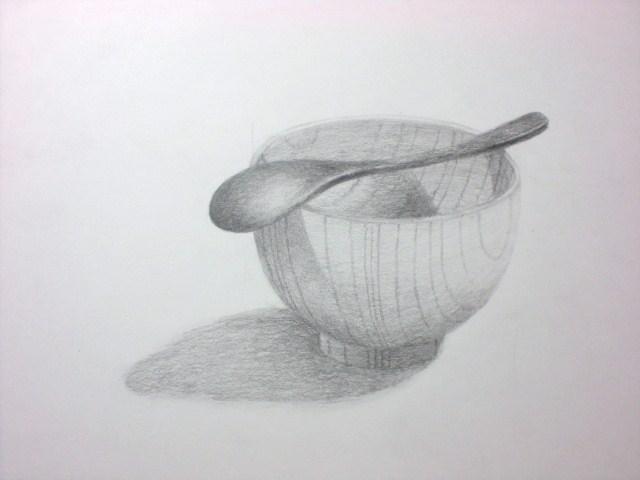 木の茶碗とスプーン