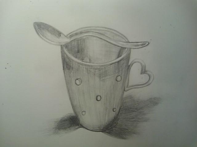 マグカップとスプーン