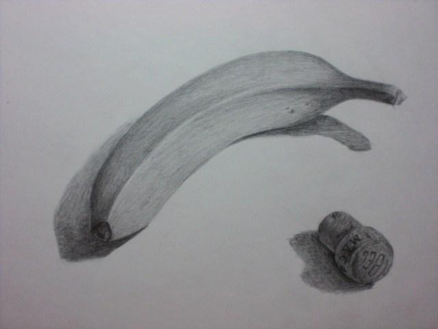 バナナとコルク