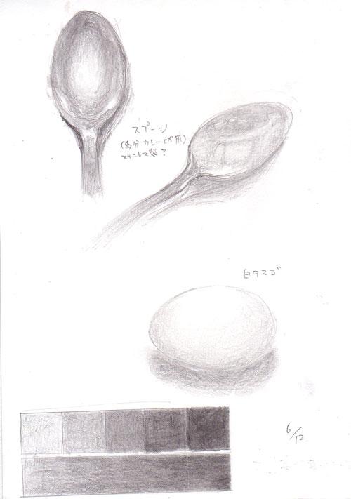 卵とスプーン