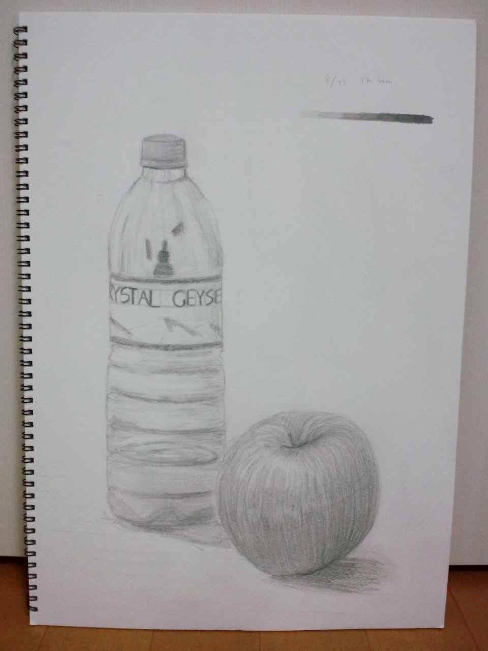 りんごとペットボトル