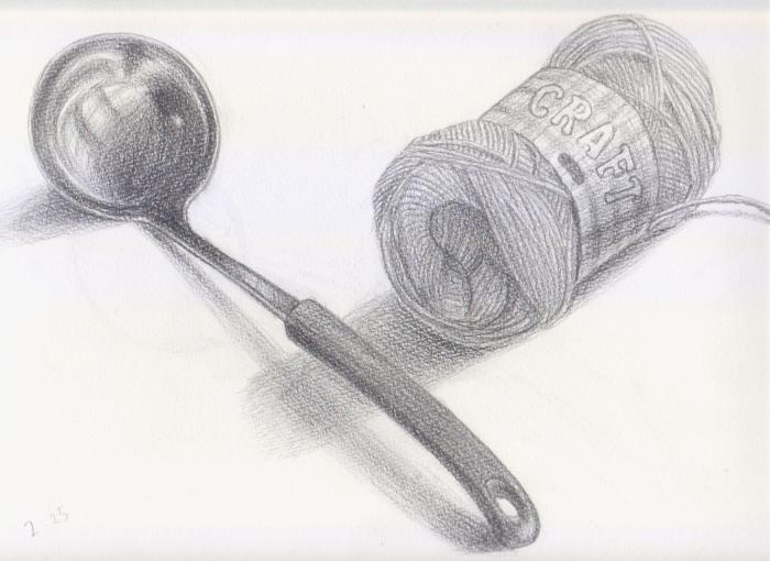 お玉と毛糸
