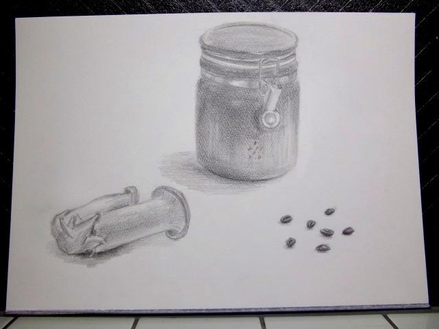 キャニスター&コーヒー豆&エリンギ