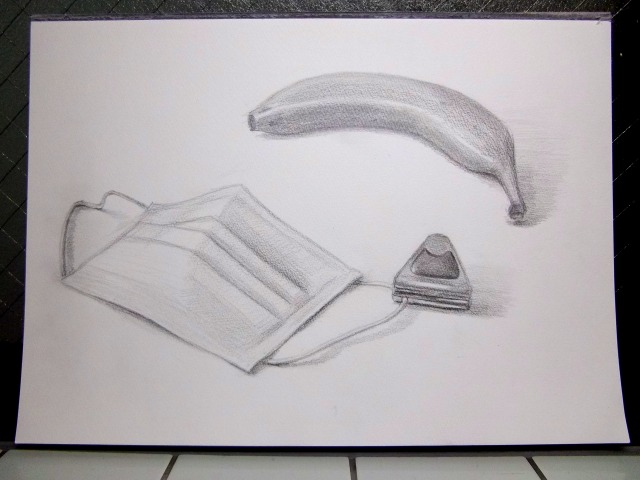 バナナ&マスク&金属製のクリップ